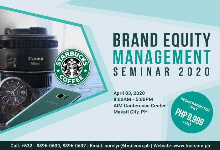 Brand Equity Management Seminar 2020
