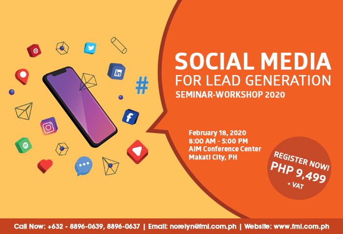 Social Media for Lead Generation Seminar-Workshop 2020