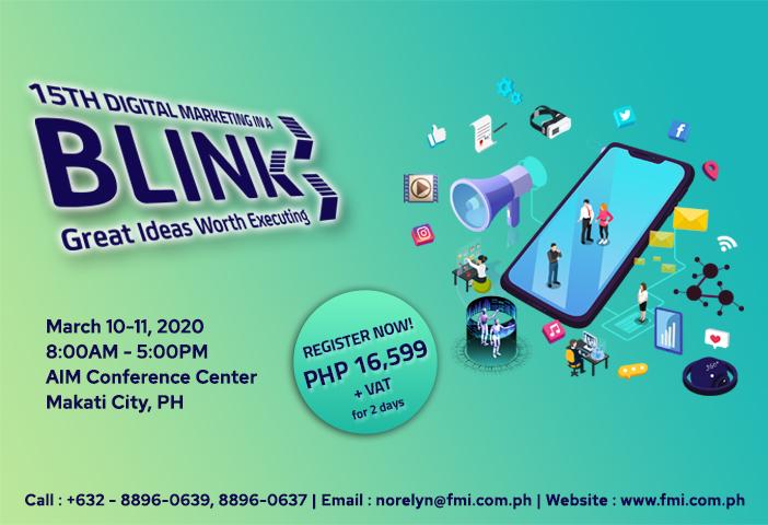 The 15th Digital Marketing in a BLINK Seminar 2020