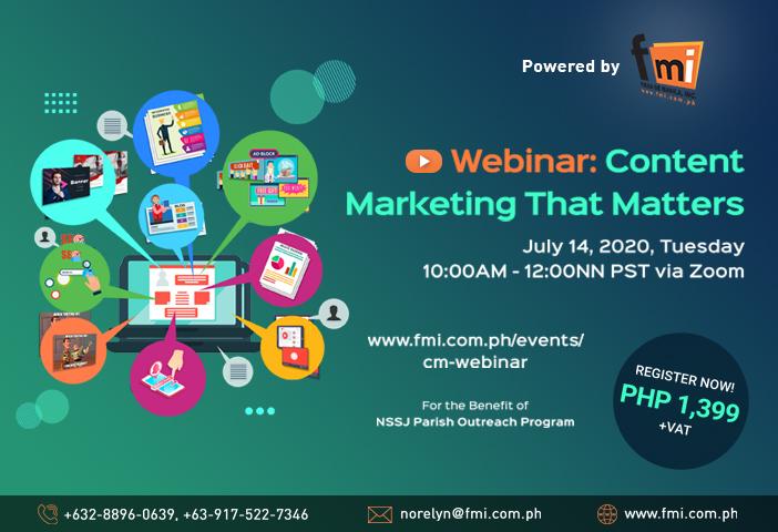 Webinar: Content Marketing That Matters
