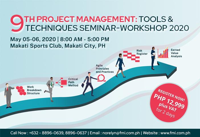 The 9th Project Management: Tools & Techniques Seminar-Workshop 2020