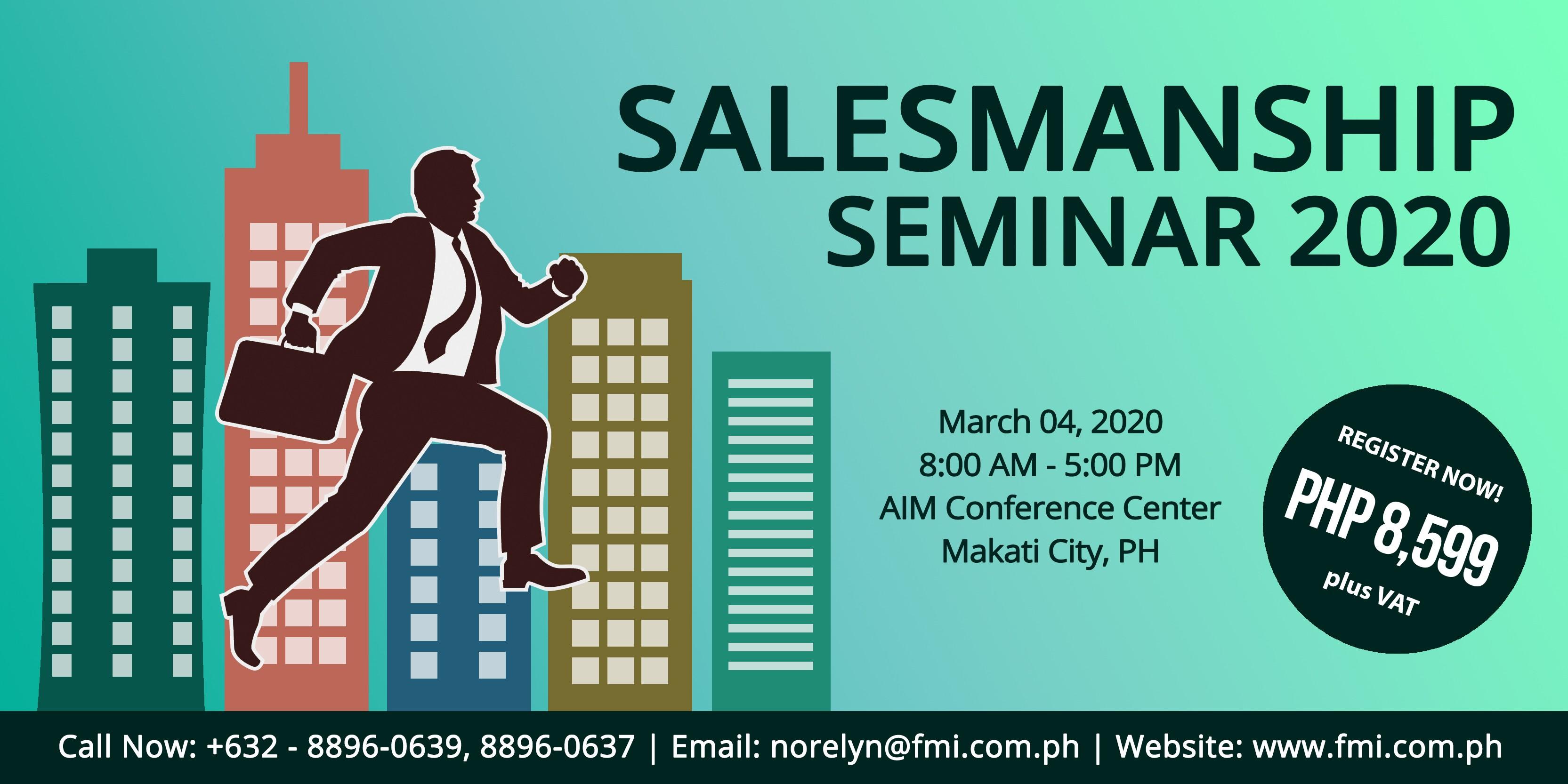 Salesmanship Seminar 2020