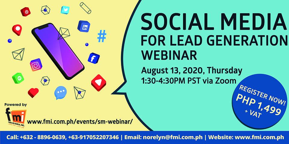 Social Media for Lead Generation Webinar