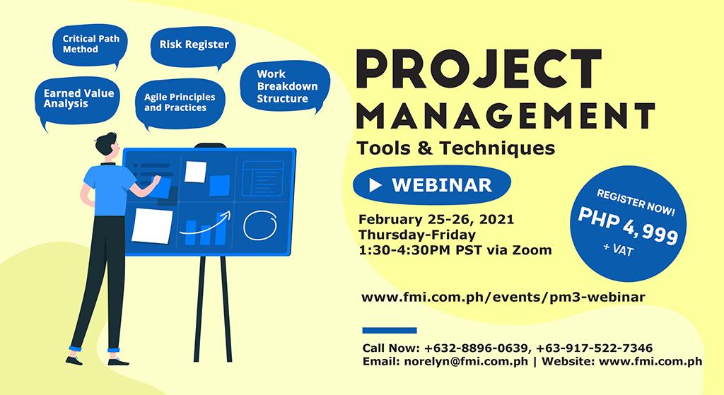 Project Management Tools & Techniques Webinar