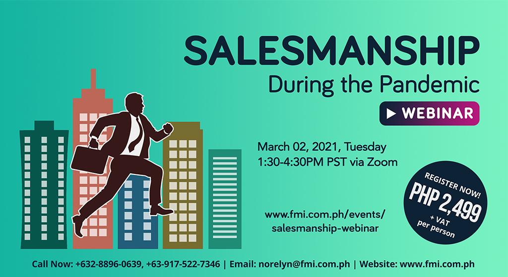 Salesmanship During the Pandemic Webinar