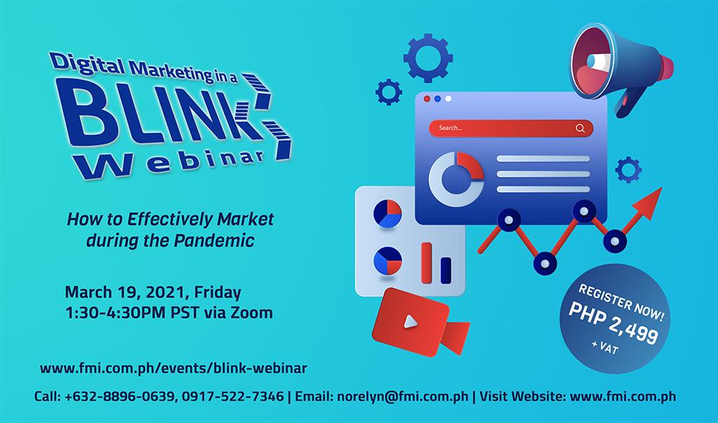 Digital Marketing in a BLINK Webinar